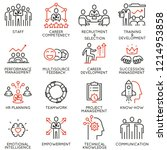 vector set of linear icons... | Shutterstock .eps vector #1214953858