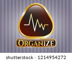 gold emblem or badge with... | Shutterstock .eps vector #1214954272