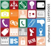 set of 25 business icons.... | Shutterstock .eps vector #1214954305