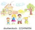 baby applique family background
