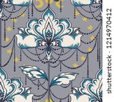 esoteric seamless pattern with... | Shutterstock .eps vector #1214970412