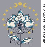 esoteric banner with flower ... | Shutterstock .eps vector #1214970415