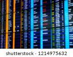 flight schedule in the airport ... | Shutterstock . vector #1214975632