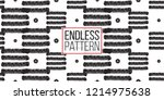 tribal stripes and tiny dots.... | Shutterstock .eps vector #1214975638