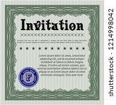 green retro invitation template.... | Shutterstock .eps vector #1214998042