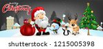 funny christmas greeting card ... | Shutterstock .eps vector #1215005398