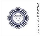 blue diamond icon inside... | Shutterstock .eps vector #1215007468