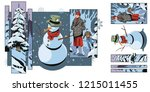 stock illustration. people in... | Shutterstock .eps vector #1215011455