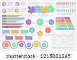 set of business infographic... | Shutterstock .eps vector #1215021265