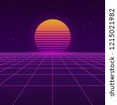 futuristic background the 80 s. ...   Shutterstock .eps vector #1215021982