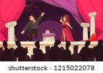 opera theater scene flat... | Shutterstock .eps vector #1215022078