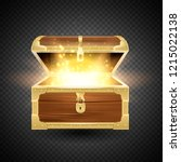 shine in old wooden chest... | Shutterstock .eps vector #1215022138
