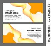 abstract modern banner... | Shutterstock .eps vector #1215025168