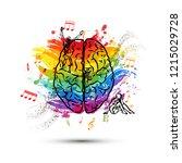 creative human brain in top... | Shutterstock .eps vector #1215029728