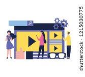 social media digital | Shutterstock .eps vector #1215030775