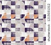 modern traditional geometric... | Shutterstock . vector #1215031312