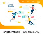 management selection... | Shutterstock .eps vector #1215031642