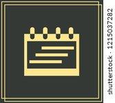 calendar icon isolated on green ...   Shutterstock .eps vector #1215037282