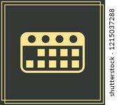 calendar icon isolated on green ...   Shutterstock .eps vector #1215037288
