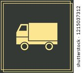 delivery web vector on green...   Shutterstock .eps vector #1215037312