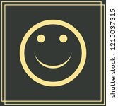 smile icon in trendy flat style ...   Shutterstock .eps vector #1215037315