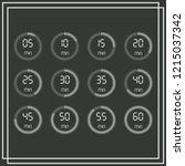 stopwatch vector icon  digital...   Shutterstock .eps vector #1215037342