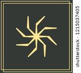 swastika brush symbol. swastika ... | Shutterstock .eps vector #1215037405