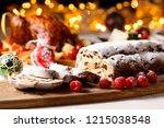 stollen  german christmas bread | Shutterstock . vector #1215038548
