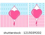 border with open heart and... | Shutterstock .eps vector #1215039202