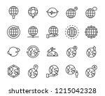 set of world map vector line... | Shutterstock .eps vector #1215042328