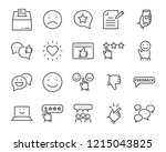 set of feedback line icons ... | Shutterstock .eps vector #1215043825