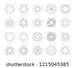 firework line icon set  happy...   Shutterstock .eps vector #1215045385