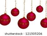 dark red christmas ornaments... | Shutterstock . vector #121505206