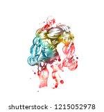 bodybuilder strict coach... | Shutterstock .eps vector #1215052978