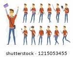 modern student   cartoon people ...   Shutterstock . vector #1215053455