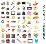 things collection vintage... | Shutterstock . vector #121505722