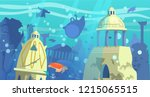 vector illustration of  sunken... | Shutterstock .eps vector #1215065515