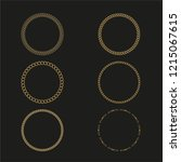 the template chain. frame logos ... | Shutterstock .eps vector #1215067615