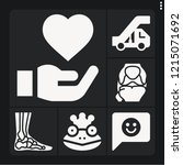 set of 6 young filled icons... | Shutterstock .eps vector #1215071692