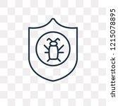 antivirus vector outline icon... | Shutterstock .eps vector #1215078895