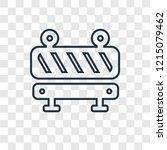barrier concept vector linear... | Shutterstock .eps vector #1215079462