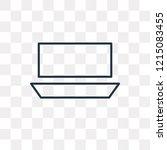 half rest vector outline icon... | Shutterstock .eps vector #1215083455