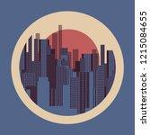 city buildings circular graphic ... | Shutterstock .eps vector #1215084655