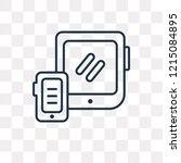 gadget vector outline icon... | Shutterstock .eps vector #1215084895