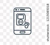 music and multimedia vector... | Shutterstock .eps vector #1215085018