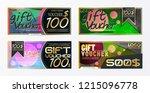 gift voucher template card... | Shutterstock .eps vector #1215096778