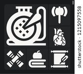 set of 6 retro filled icons... | Shutterstock .eps vector #1215097558