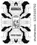 cyberpunk futuristic poster... | Shutterstock .eps vector #1215103702