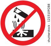 danger corrosive warning not... | Shutterstock .eps vector #1215109288