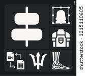 set of 6 man filled icons such... | Shutterstock .eps vector #1215110605